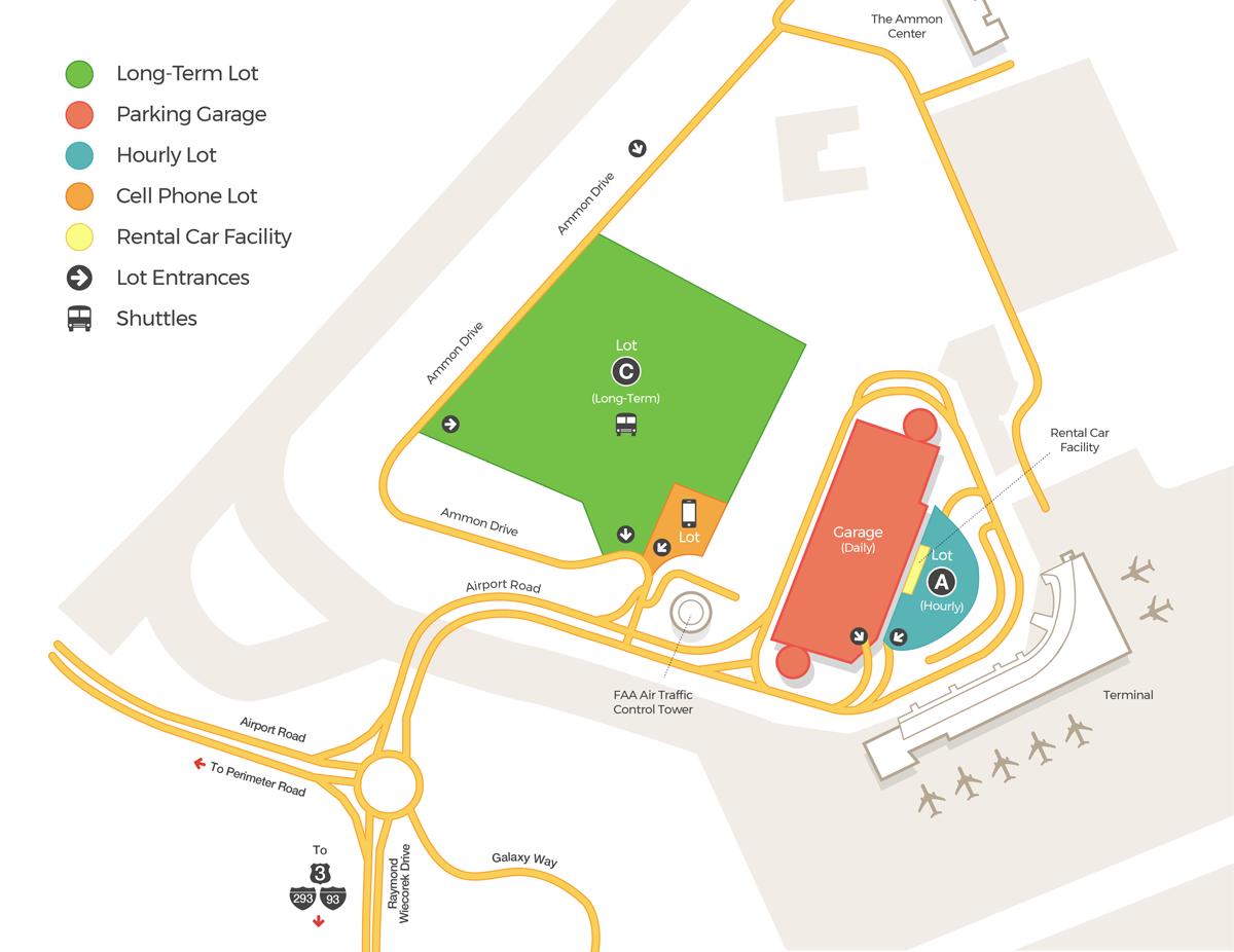 Parking Information | Manchester Boston Regional Airport (MHT)